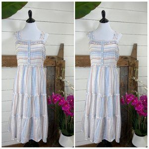 Violet Sky NWT Sun Dress Blue Pink White